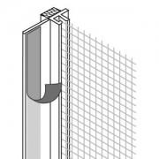 Оконный профиль примыкания самоклеящйся с сеткой, 6 мм